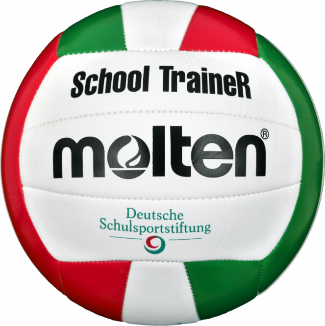 Molten V5STC Volleyball SchoolTraineR weiß-grün-rot | 5