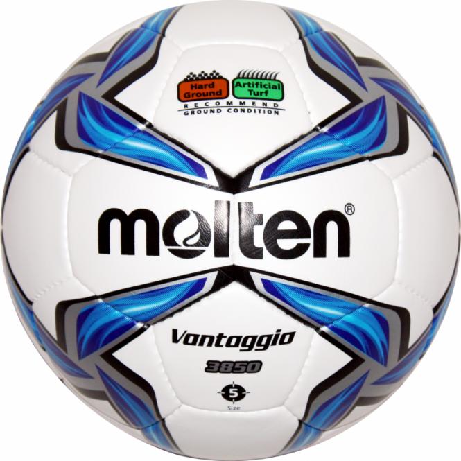 Molten F5V3850 Fußball Trainingsball weiß-blau-silber | 5