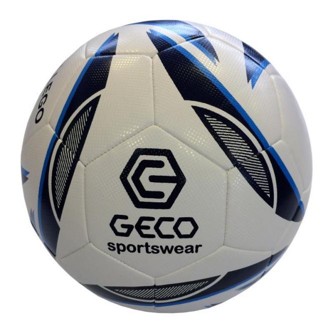 GECO Gallego Extra Lite Jundendfußball Spielball Trainingsball weiß-schwarz-neonblau   5 (290g)