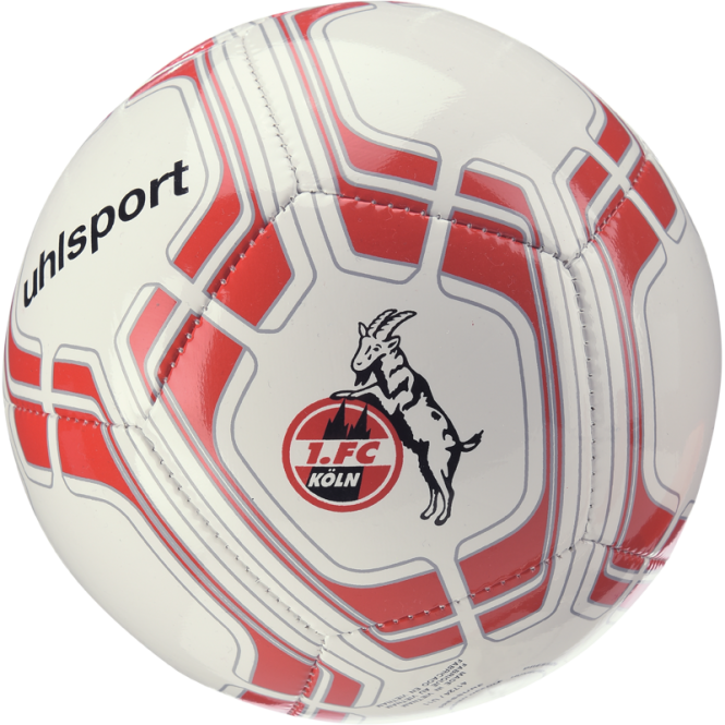 Uhlsport Miniball 1. FC Köln Mini Fußball weiß-rot   Mini