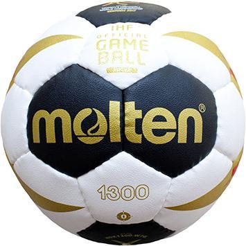 Molten H0X1300-W7G Handball Methodikball weiß-schwarz-gold-rot | 0