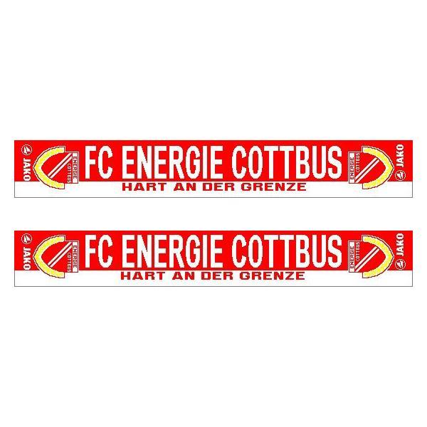 JAKO FC Energie Cottbus Fan-Schal Hart An Der Grenze rot-weiß | One Size