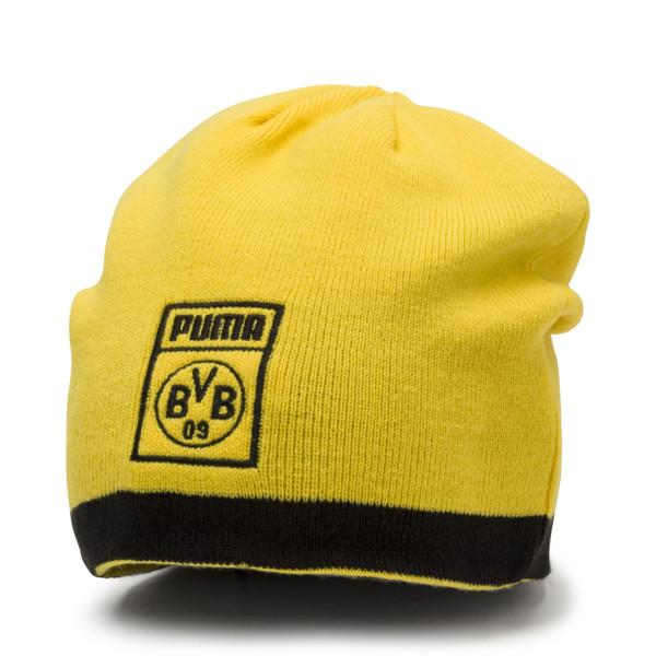 Puma BVB Reversible Beanie Fan Mütze Puma Black-Cyber Yellow | OSFA