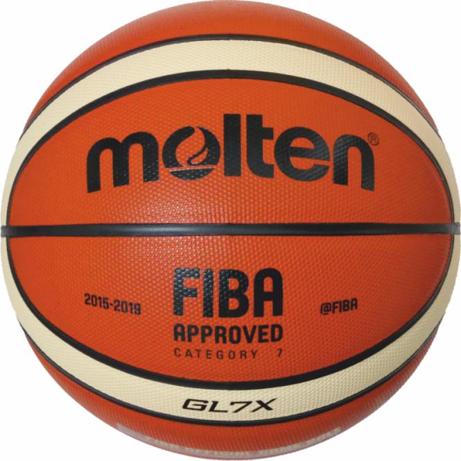 Molten BGL7X  Basketball Wettsspielball orange-ivory | 7
