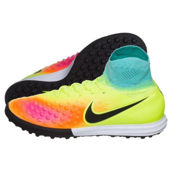 Nike JR Magistax Proximo II TF Fußballschuhe Kinder volt-black-hyper turq-total orange | 38