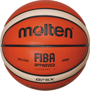 Molten BGF5X-X  Basketball Wettsspielball orange-ivory | 5