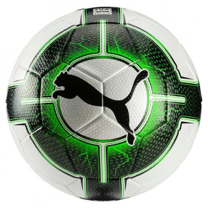 Puma EvoPower Vigor 3.3 Tournament Fussball Spielball Gr. 5 Puma White-Green Gecko-Puma Black | 5