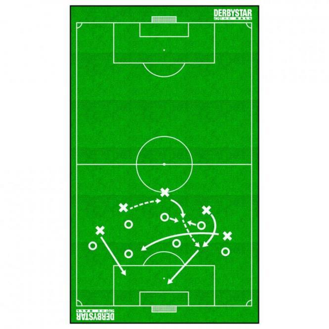 Derbystar Handtuch  Badetuch Taktiktafel weiss grün | 70x160cm