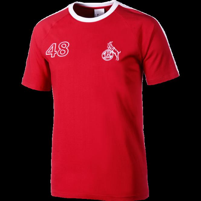 Uhlsport 1. FC Köln Shirt Retro 1948 rot-weiß Fanshirt