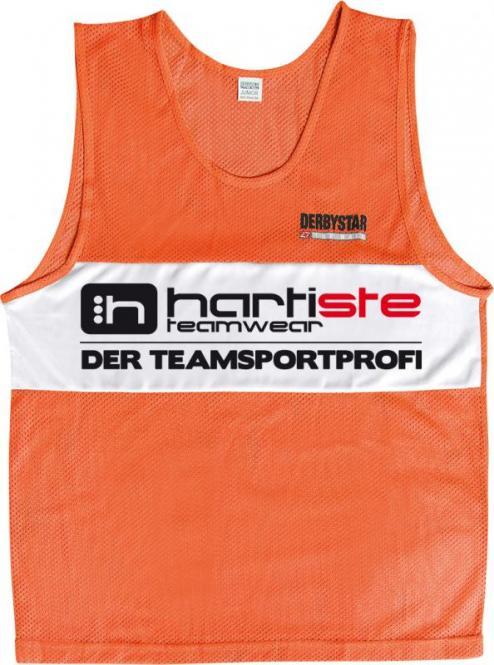 Derbystar 10er Set Trainingsleibchen Markierungshemden Hartiste orange-weiß | 152-S