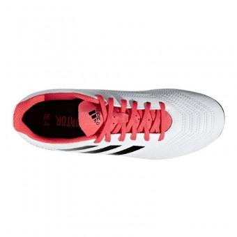 adidas Predator 18.4 FxG J Fußballschuhe Kinder Ftwr White Core Black Real Coral | 33