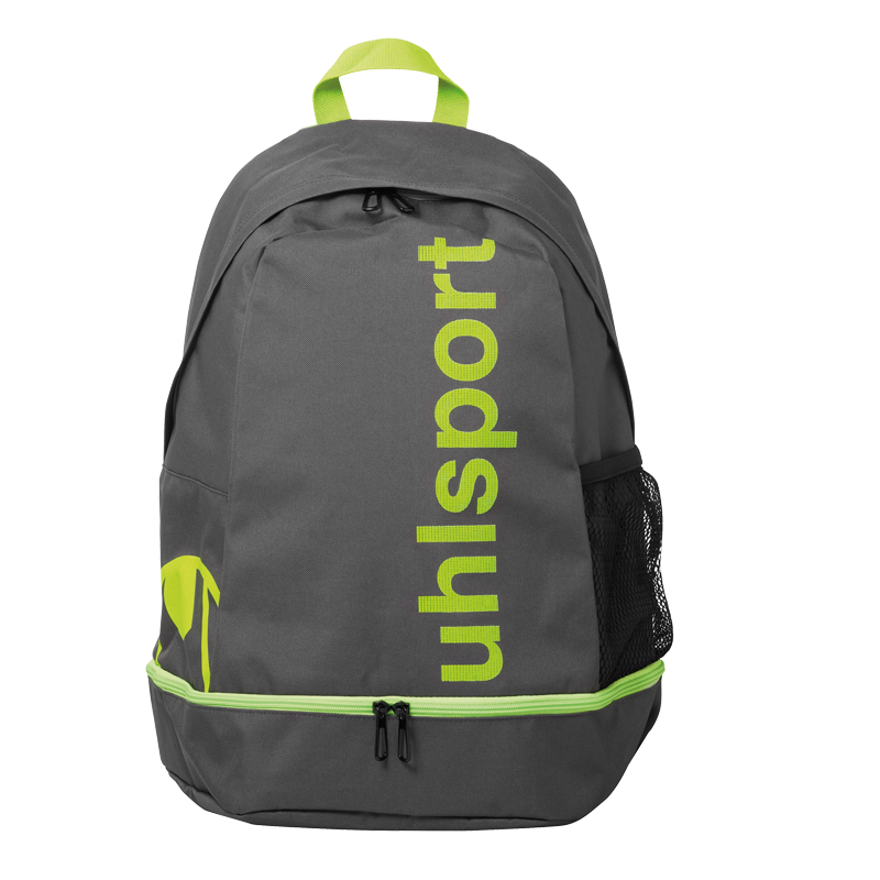 Uhlsport Essential Backpack Rucksack Mit Bodenfach Anthrazit Fluo Grun One Size