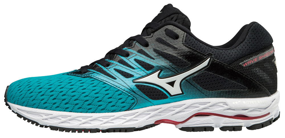 cd707157a4 Mizuno Wave Shadow 2 Women Laufschuhe Running Peacock Blue-Silver-Teaberry  | 38,5