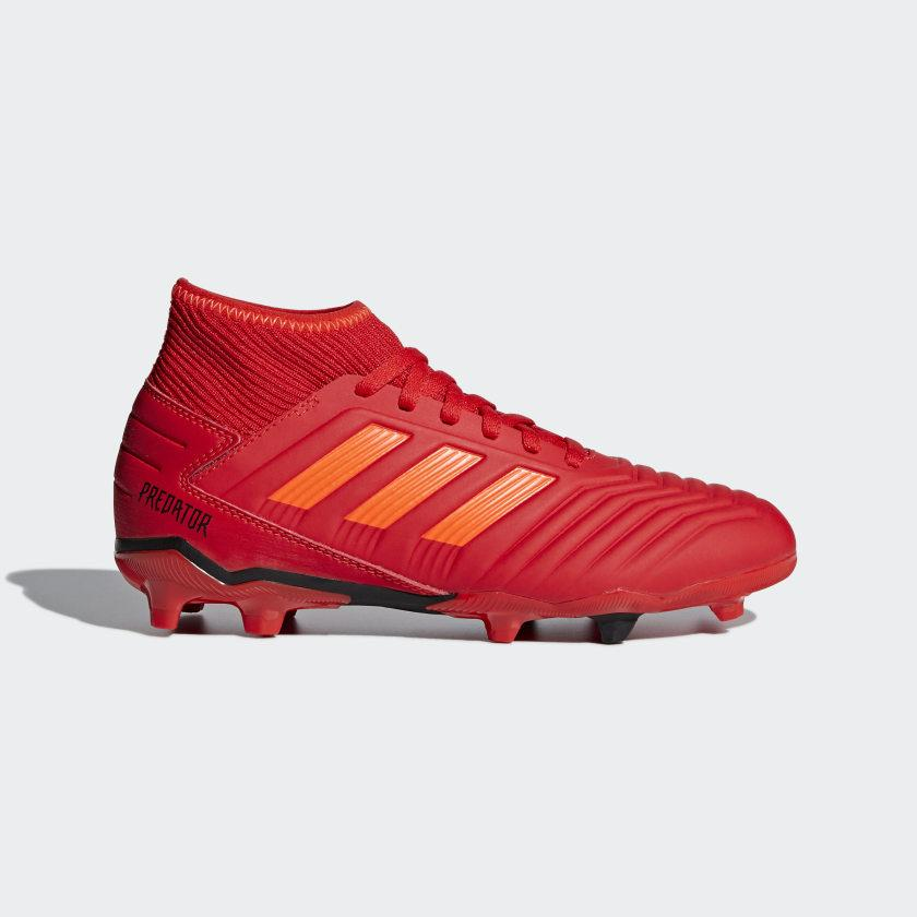 Adidas PREDATOR 19.3 FG Fußballschuhe FG Kinder ACTIVE RED SOLAR RED CORE BLACK | 30