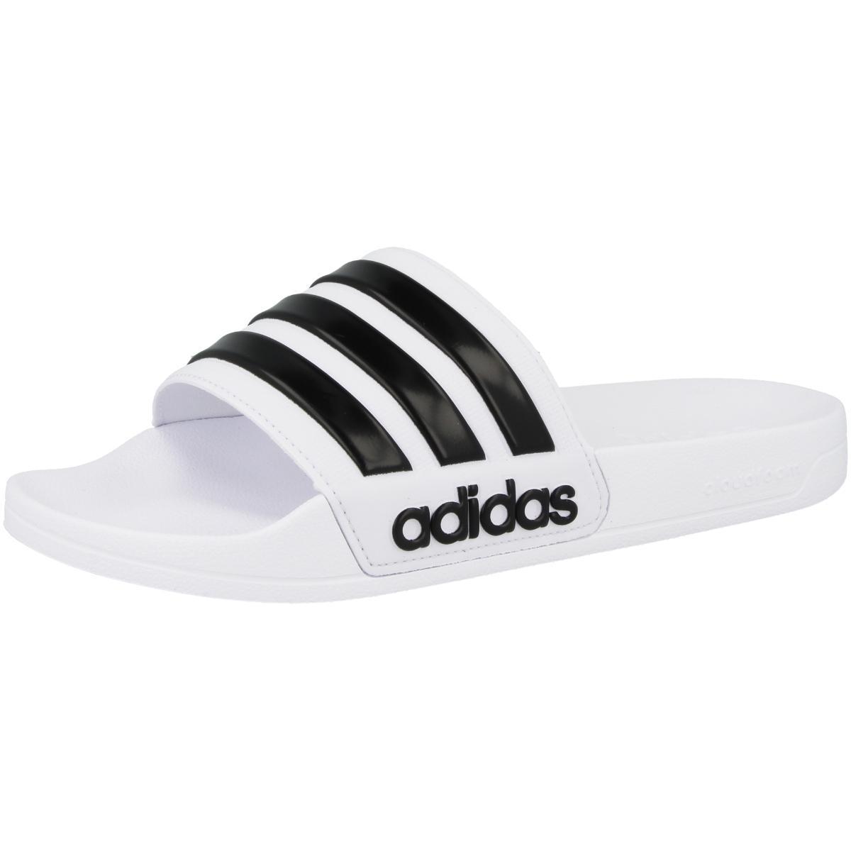 Adidas Adilette Shower Cloadfoam Slipper Badeschlappen FTWR WHITE CORE BLACK FTWR WHITE | 46