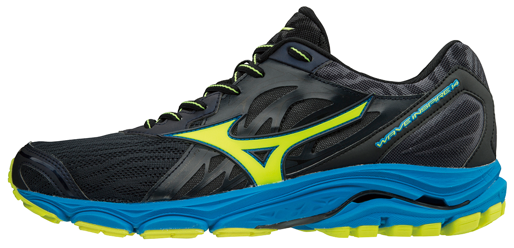 f2d6b968b3 Mizuno Wave Inspire 14 Laufschuhe Running Ombre Blue-Safety Yellow-Diva  Blue | 42